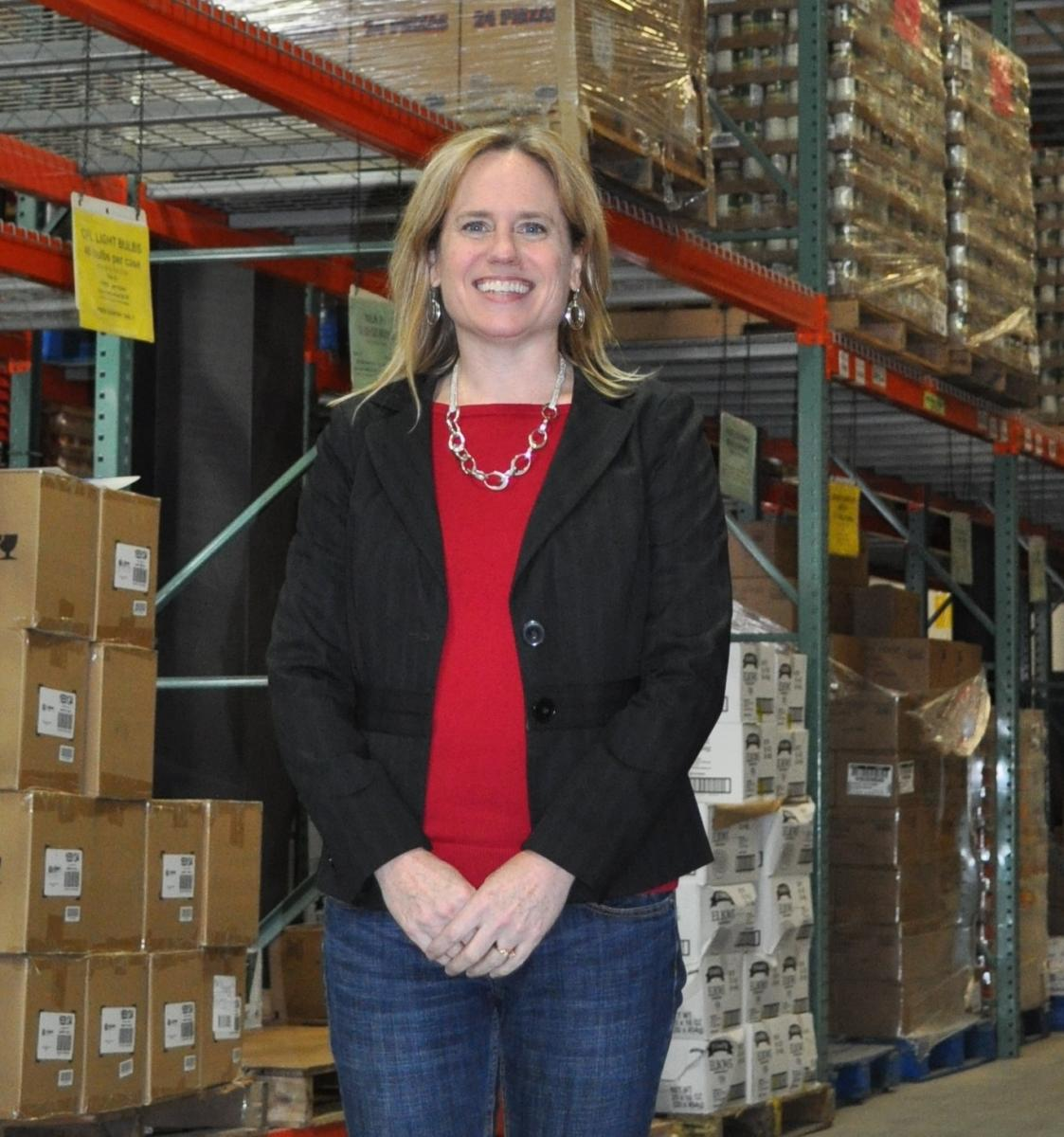 Kristen Miale at the Good Shepherd Food Bank Warehouse