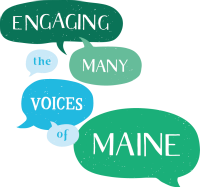 Conference Logo - Engaging the Many Voices of Maine