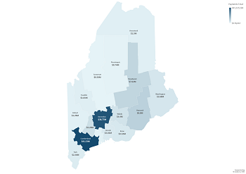 State of Maine Giving by County